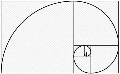 how to draw a golden spiral on graph paper