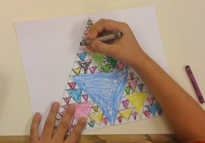 Worksheets Sierpinski Triangle Worksheet fractal triangle foundation sierpkid