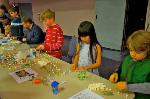 Children assembled fractal tetrahedrons, taking the project to the next dimension