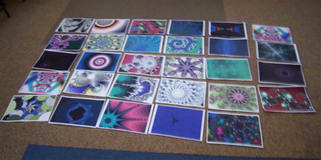 Algebraic fractals made by 4th and 5th year students at the Gateway School.